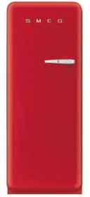 50'S Style Refrigerator with ice compartment, Red, Left hand hinge