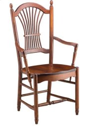 Sheaf Back Arm Chair w/ Wood Seat