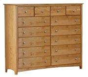 Alder Shaker 14 Drawer Dresser Product Image