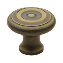 Satin Brass and Black Colonial Knob