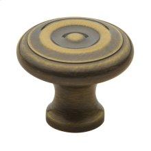 Satin Brass and Black Colonial Knob