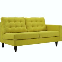 Empress Right-Facing Upholstered Fabric Loveseat in Sunny