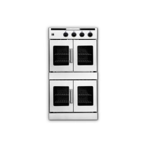 """American Range30"""" Legacy Hybrid French Door Double Deck Wall Oven - Gas On Top / Electric On Bottom"""