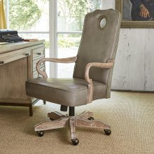 Queen Anne Desk Chair - Oak