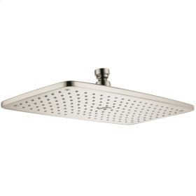 Brushed Nickel Showerhead 360 1-Jet, 2.5 GPM