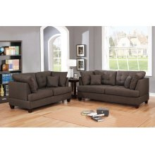 F6402 / Cat.19.p38- 2PCS SOFA SET BLK COFFEE