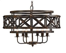 Black Industrial Trestle Chandelier