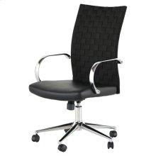 Mia office chair  black naugahyde / chrome