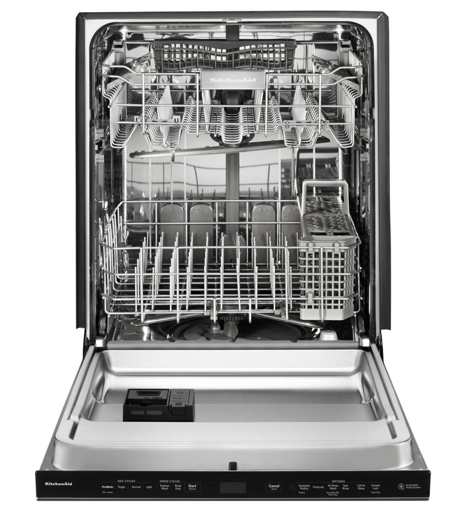 Superbe KITCHENAID 44 Dba Dishwashers With Clean Water Wash System And Printshield  Finish, Pocket Handle