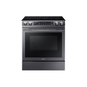 Samsung5.8 cu. ft. Slide-In Electric Range in Black Stainless Steel