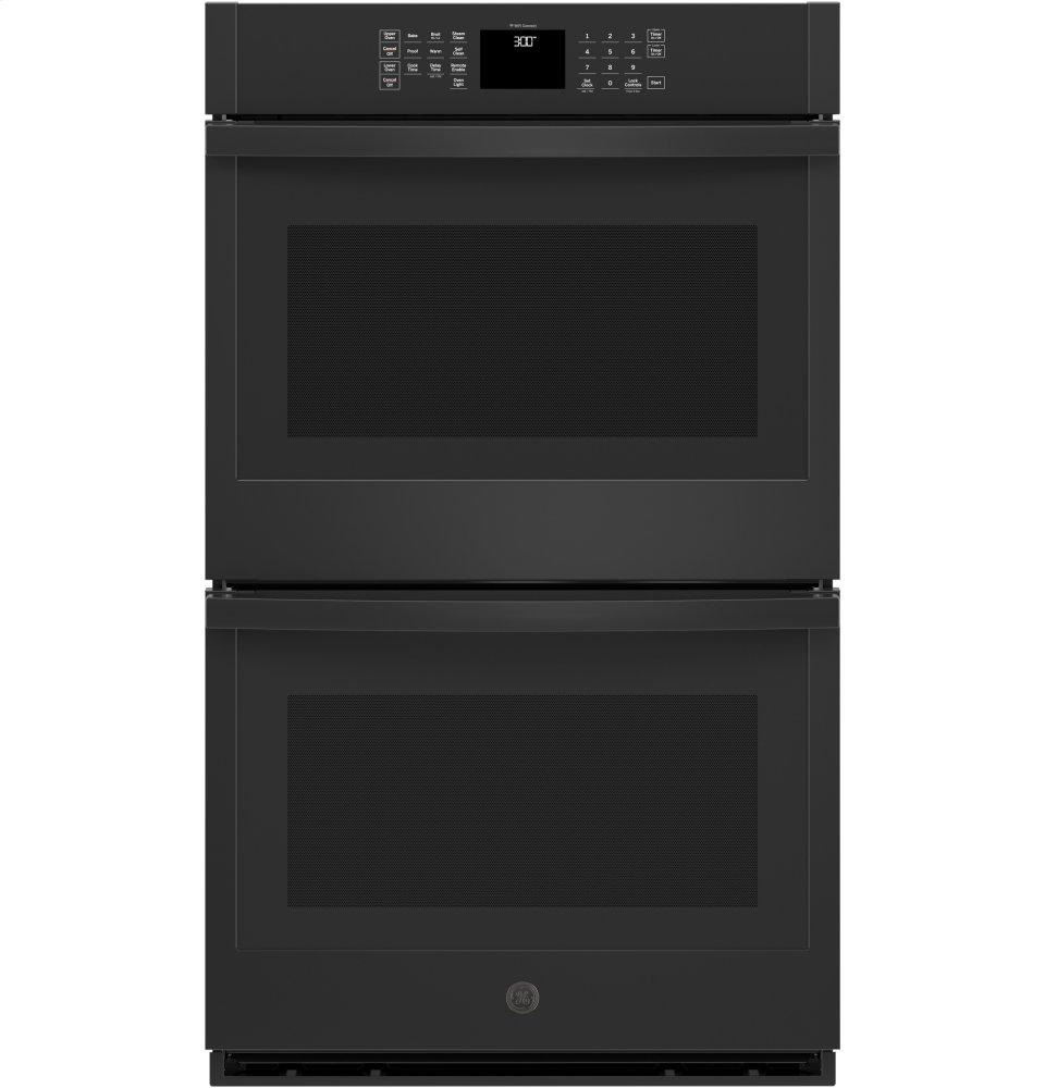 """GE(R) 30"""" Smart Built-In Double Wall Oven  BLACK"""