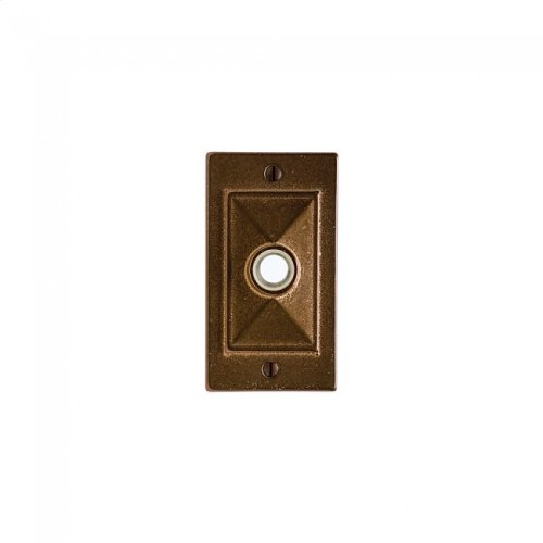 Mack Doorbell Button White Bronze Brushed