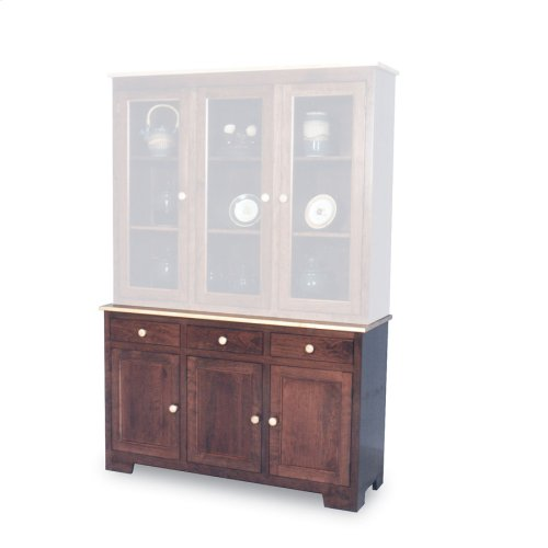"Shaker Hutch Base, Large, Shaker Hutch Base, 61 1/2"", 18"" Base"