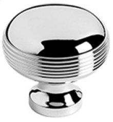 "Antique Brass Unlacquered Cupboard knob, 1 1/4"" diameter"