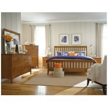 Slat King Bed Honey - Complete