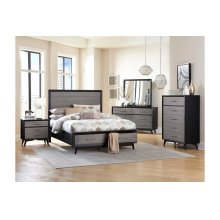 Full Platform Bed with Footboard Storage
