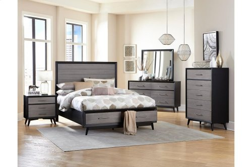 California King Platform Bed with Footboard Storage