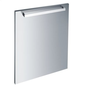 MieleInt. front panel: W x H, 24 x 28 in Clean Touch Steel™ with handle in Classic Design for integrated dishwashers.