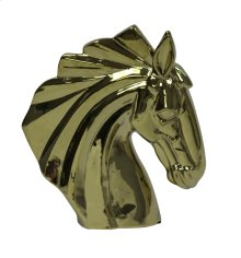 Gold Ceramic Horse Head