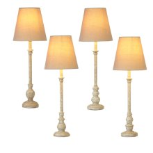 4pc. ppk. Distressed Ivory Buffet Lamp. 40W Max. (4 pc. ppk.)