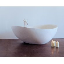 Papillon Bathtub Limestone