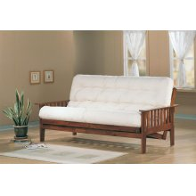 Traditional Dirty Oak Futon Frame