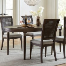 Joelle - Oval Dining Table - Carbon Gray Finish