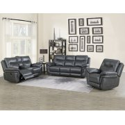 "Isabella Recliner Chair Grey 43""x37.4""x42"" Product Image"