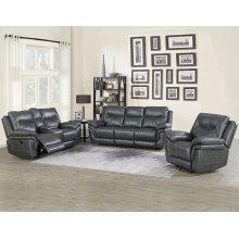 Steve Silver Co. Isabella Grey Color 3 Piece Recliner Sofa Set
