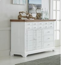 Server - Light Oak/Distressed White Finish Product Image