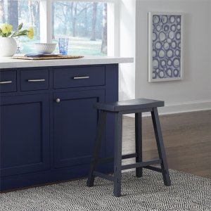 Liberty Furniture Industries24 Inch Sawhorse Counter Stool- Navy