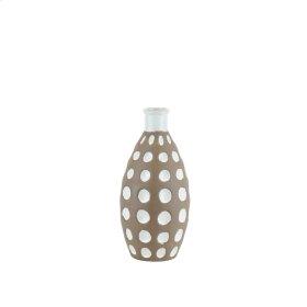 """Ceramic Concave Bubbles VASE,10.75"""" Brown"""