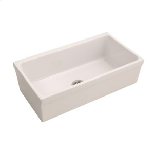 "Hinton Single Bowl Fireclay Farmer Sink - 36"" - Bisque Product Image"