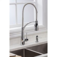 Elkay Avado Single Hole Kitchen Faucet with Semi-Professional Spout Forward Only Lever Handle Chrome