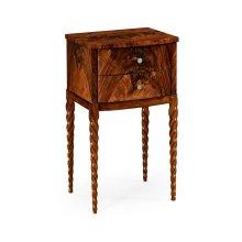 Walnut Barleytwist Lamp Table
