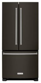 22 Cu. Ft. 33-Inch Width Standard Depth French Door Refrigerator with Interior Dispense - Black Stainless Product Image