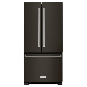 KITCHENAID22 Cu. Ft. 33-Inch Width Standard Depth French Door Refrigerator with Interior Dispense - Black Stainless