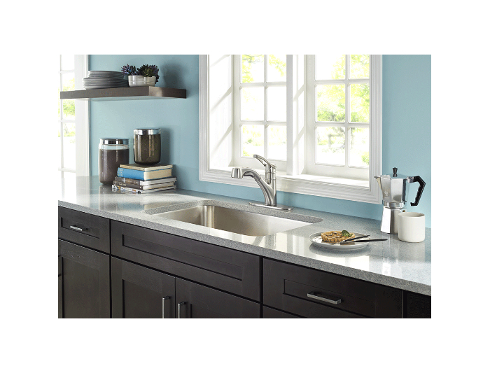 Hidden · Additional Stainless Steel Prive 1 Handle, Pull Out Kitchen Faucet
