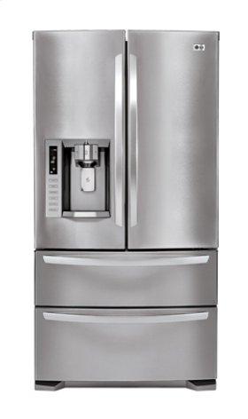 4-Door French Door Refrigerator with Ice- and Water-Dispenser (28 cu.ft.; Stainless Steel)
