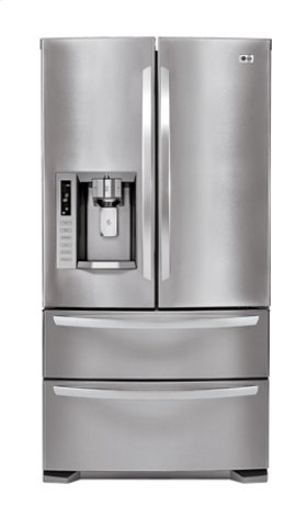 4-Door French Door Refrigerator with Ice- and Water-Dispenser (28 cu.ft.; Stainless Steel)