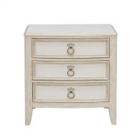 Reece 3 Drawer Nightstand in Distressed Cream / White Product Image