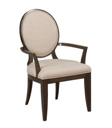 Uph Arm Chair w/Decorative Back -KD