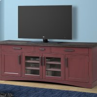 Americana Modern Cranberry 76 in. TV Console Product Image