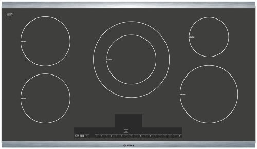 36 Induction Cooktop with Touch Control 500 Series - Black with Stainless Steel Strips