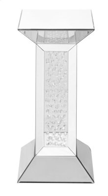 12 inch Crystal End Table in Clear Mirror Finish