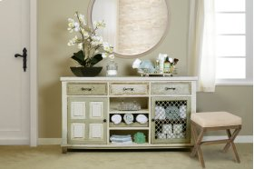 Somerset Wood Vanity Bench - Driftwood