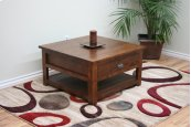 A-R252 Rustic Alder Square Coffee Table