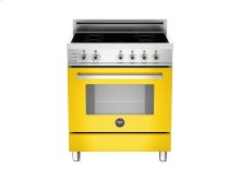 30 4-Induction Zones, Electric Self-Clean oven Yellow