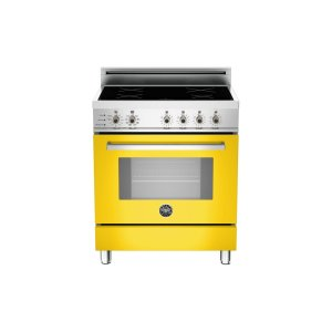 30 4-Induction Zones, Electric Self-Clean oven Yellow - Yellow