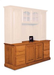 Classic File Drawer Credenza, Classic Hutch Top with Long Doors, Large Product Image